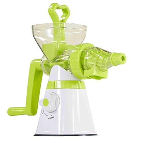 SHINKODA SK-326H Manual Slow Masticating Single Auger Juicer For Fruit and Vegetable - White/Green