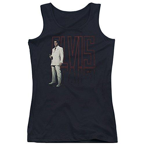 Elvis Presley - - Die Jungen Frauen den weißen Anzug Tank Top, X-Large, Black