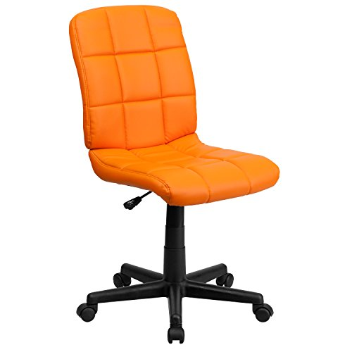 Flash Furniture Mid-Back Orange Quilted Vinyl Swivel Task Chair