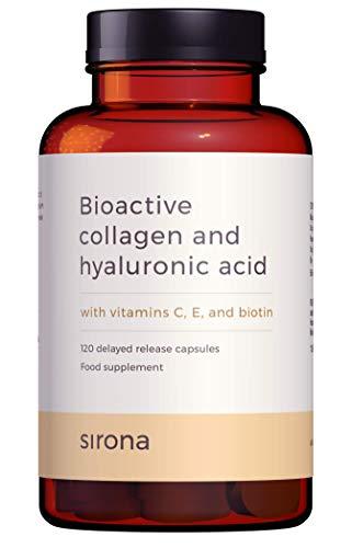 Marine Collagen Supplement with Hyaluronic Acid, Vitamin C, Vitamin E and Biotin   120 Delayed Release Marine Collagen Capsules   2 Months Supply