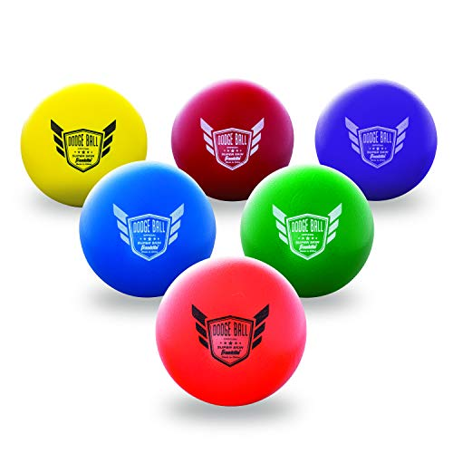 Franklin Sports Dodgeball Ball Set – Superskin-Coated Foam Balls for Playground Games – Small Dodgeballs for Gymnasium Games – Easy-Grip Foam Balls – Won't Shred or Tear for Hours of Fun