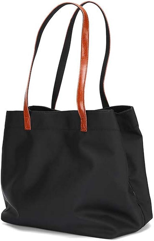 Tote Bag for Women Large Nylon Purses Handbags Leather Handles Travel Work Shoulder
