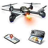 Asbww | Dron GPS con Cámara HD 1080p para Principiantes - Drone Cuadricóptero RC con Retorno Automático / Fotos y Vídeo HD 1080p / Transmisión en Tiempo Real FPV