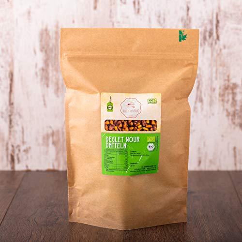 süssundclever.de® | Bio Deglet Nour Datteln | 1 kg | Premium Qualität | hochwertiges Naturprodukt ohne Zusätze | 100% Bio | entkernt | plastikfrei und ökologisch-nachhaltig abgepackt