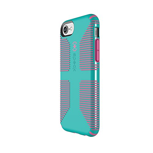 Speck Products CandyShell Grip Cell Phone Case for iPhone 8/7/6S/6 - Caribbean Blue/Bubblegum Pink