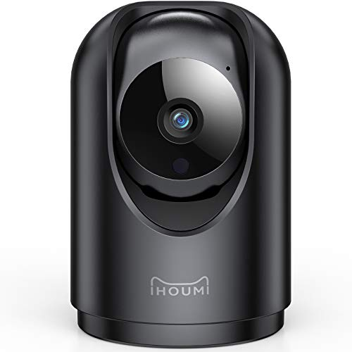 Telecamera Wi-Fi Interno, IHOUMI Telecamera IP FHD 1296P, con Super Visione Notturna / Audio Bidirezionale / Motion tracking / Allarme APP, telecamere videosorveglianza