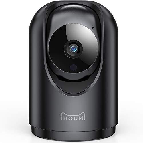 [2021 aktualisierte] IHOUMI WiFi IP-Kamera, 1296P FHD-Überwachungskamera, 2-Wege-Audio, Bewegungsverfolgung und-erkennung, Schallerkennung,Umschaltbare Nachtsicht,Unterstützt die Verwendung mit Alexa