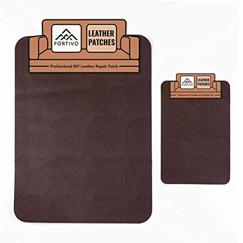 Brown Leather Repair Kits For Couches, Leather Patch, Vinyl Repair Kit - Leather Repair Kit for Car Seats, Vinyl Upholstery, Air Mattress, Inflatables - Cat Scratch Tape, Brown duct tape for Furniture