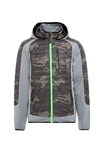 Camp David Herren Softshelljacke mit Alloverdruck-Einsätze