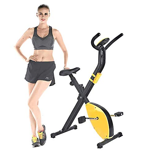 Bonheur F-Bike-X Bike-Home Trainer-Fascia di Resistenza del Sistema-Hand Pulse sensori-Ergometro-Cyclette con Holder-Pieghevole Tablet Fitness Indoor Bike