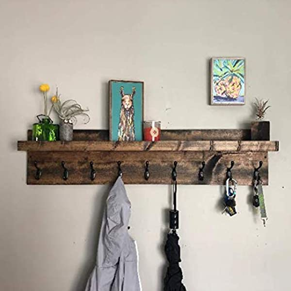 Coat Rack With Shelf Choose Your Length Towel RackEntryway Organizer Wall Mounted