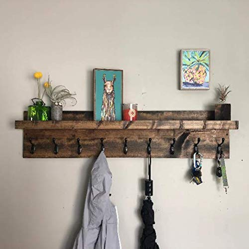 Amazon.com: Coat Rack with Shelf (Choose your Length) Towel Rack