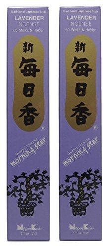 Trimontium 98712Nippon Kodo Morning Star Japonesa Incienso Duo Pack, 2x 50Unidades, Lavanda/Lavender