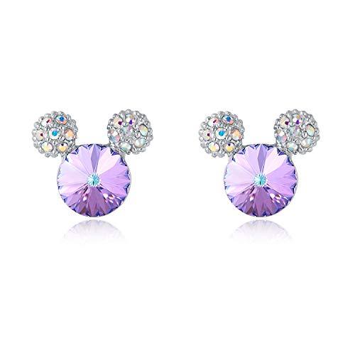 HERMOSO Lovely Mouse Orecchini per ragazze/donne, realizzati con gioielli in cristallo Swarovski regalo