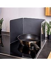UPP 370 spatbescherming vouwwand I pannenspatbescherming houdt fornuis en keuken schoon I ruimtebesparende opvouwbare spatbescherming I spatscherm ideale keuken accessoires, metaal