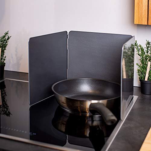 UPP Spritzschutz Faltwand I Pfannenspritzschutz hält Herd & Küche sauber I Platzsparender Klappbarer Küchenspritzschutz I Spritzschutzwand ideales Küchen Zubehör