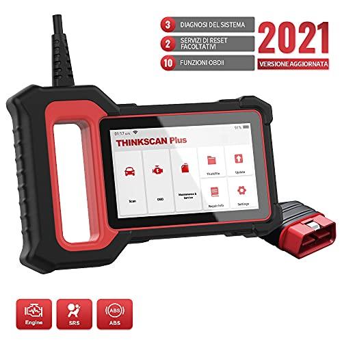 Thinkcar OBD2 Scanner Strumento di scansione OBDII per veicoli, lettore di codici per auto dotato di 28 servizi di manutenzione e 3 diagnosi di sistema, controllo motore ABS SRS Thinkscan Plus S2 2021