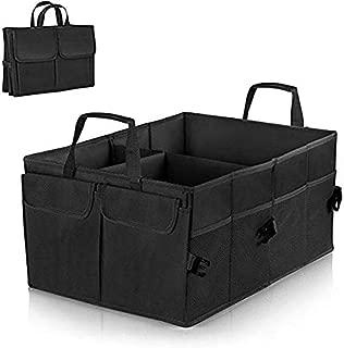Premewish Car Boot Organiser Trunk Organiser Auto Storage Organizer Car Truck Storage Bag Car Boot Bag Foldable Oxford Fabric Trunk Storage Box for Car Truck SUV and Indoor