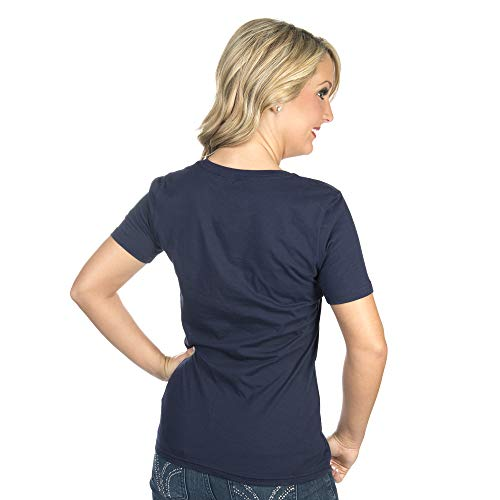 NFL Dallas Cowboys Womens Logo Premier Short Sleeve Tee, Navy, X-Small