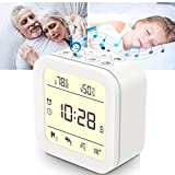 White Noise Machine, Sound Machine for Sleeping Baby Adults, Portable Sleep Machine with 27 HiFi Sound, Night Light, Alarm Clock, Temp & Humidity, for Office Privacy & Noise Canceling, Home, Travel