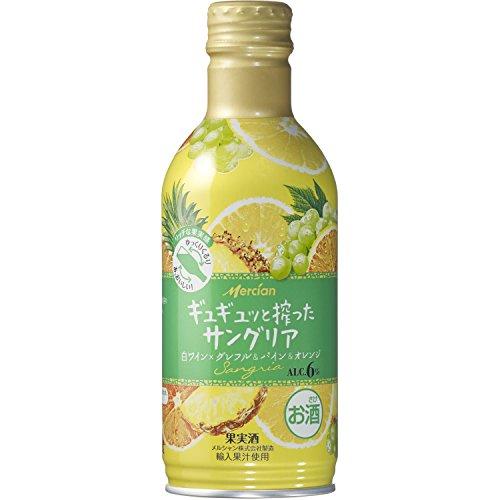 ギュギュッと搾ったサングリア 白ワイン×グレフル&パイン&オレンジ 300ml [ 白ワイン 甘口 日本 ]