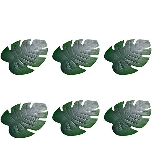 Manteles individuales antideslizantes, aislamiento térmico, impermeable, EVA juego de manteles individuales para mesa de comedor, 6 piezas, Tropical Palm Leaf
