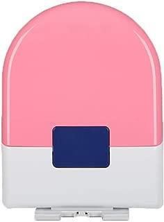 Asiento de inodoro JINFAN, entrenamiento para ir al baño de padres e hijos Asiento de inodoro familiar de cierre suave |  Forma de U cuadrada |  Botón de un toque, rosa