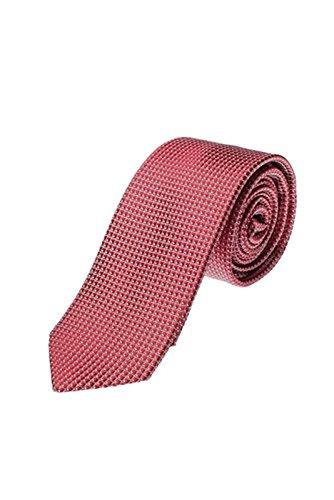 Olymp Herren Seidenkrawatte Slim Struktur rot / weiß 1798 00 35