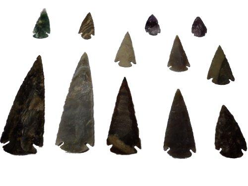 Animus ImperatJ.Fée 12 Puntas de Flechas de Piedra no es 2,5-11cm