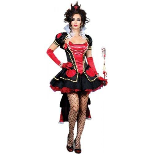 less is more Kostüm QUEEN OF HEARTS mit PERLENVERZIERUNG 32-36