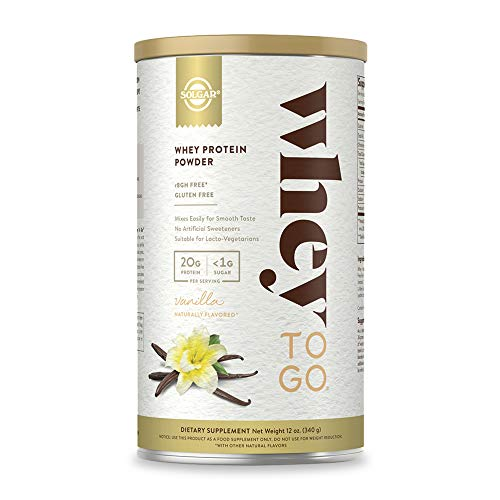 Solgar Whey To Go Natural Vanilla Flavour Protein Powder 340 g