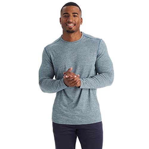 C9 Champion Men's Long Sleeve Tech Tee, Jetson Blue Heather, XL