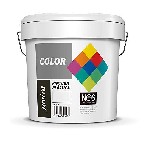 PINTURA MATE CUBRIENTE | 24 COLORES |, Pintura interior-exterior con excelente poder cubriente (5 KG, BLANCO)