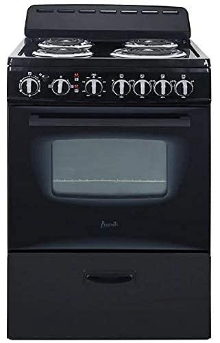 Avanti ERU240P1B Black 24 Inch Electric Freestanding Range