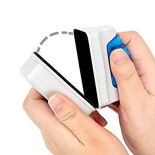 Cepillo Magnético para acuarios – Limpiador de vidrios de acuarios – Cepillo para limpiar acuarios sin mojarse las manos – Cepillo para limpiar peceras – Cepillo magnético limpiador de vidrios