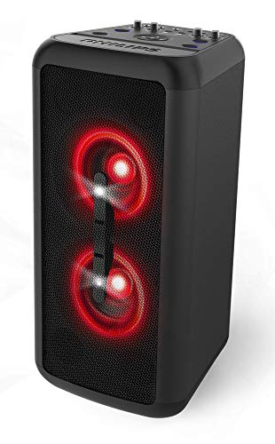 Philips BASS+ NX200 Wireless Bluetooth Party Speaker, Light Effects, Karaoke Features, 160W Max, 2X Mic-inputs, 1x Guitar Input, up to 14 Hours of Playtime (TANX200)