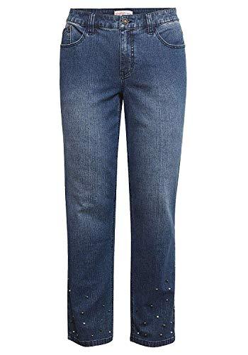 Sheego - Jeans Elasticizzati da Donna Blu Denim 54