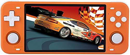 Console Giochi Portatile Powkiddy RGB10 Max con 10000 Giochi, Bluetooth e Wifi Console Portatile Giochi Retro Supporta PS/N64/FC,RK3326 1.5GHz,Console per Videogiochi 5'IPS (arancia)