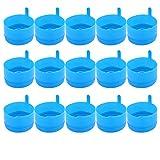 LIOOBO Tapa Del Dispensador de Agua 25 Piezas Tapas Antiderrames Tapas de Botellas Antisalpicaduras Reutilizables para Jarras de Agua de 55 Mm de 3 Y 5 Galones