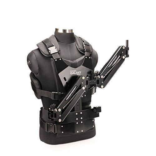FLYCAM Galaxy Dual Arm und Weste am Körper montierte Steadycam für Hand-Stabilisator für Videokamera, Camcorder bis zu 10 kg (GLXY-AV)