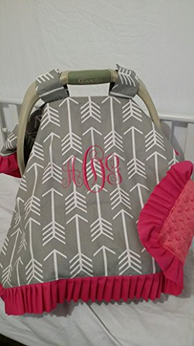 Car seat cover, canopy, Doubles as a blanket, Infant carrier cover, handle straps Embroidered, personalized, monogrammed, Any theme, Protect your baby from weather and sickness