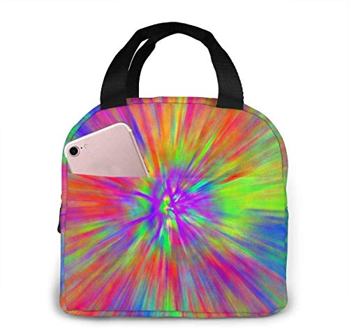 Tye Dye Patterns Lunch Bag for Women Girls Kids Insulated Picnic Pouch Thermal Cooler Tote Bento Large Meal Prep Cute Bag Big Leakproof Soft Bags for Lunch Box, Camping, Travel, Fishing