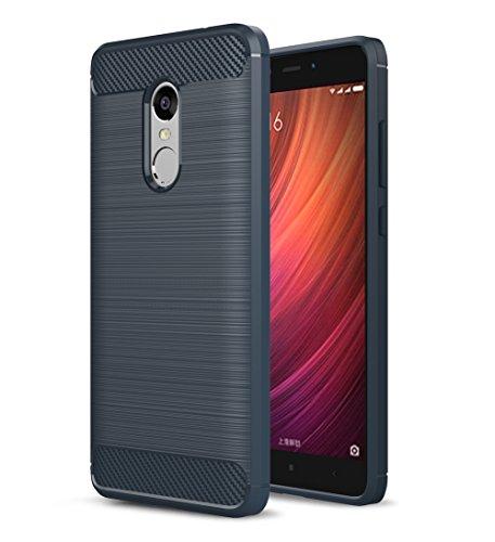 XMT Xiaomi Redmi Note 4,Redmi Note 4X Funda, Cubierta Delgado Caso de TPU Silicona Funda Protective Case para Xiaomi Redmi Note 4,Note 4X Smartphone (Azul)