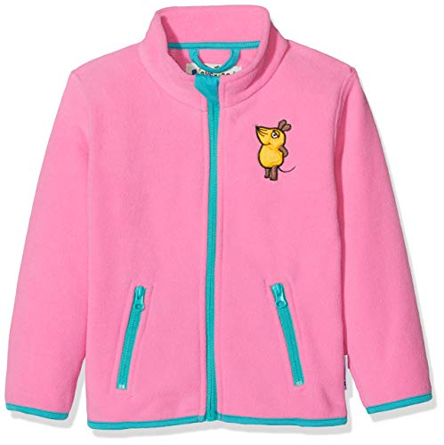 Playshoes Baby Mädchen Fleece-jacke die Maus Jacke, Rosa (Pink 18), 128 EU