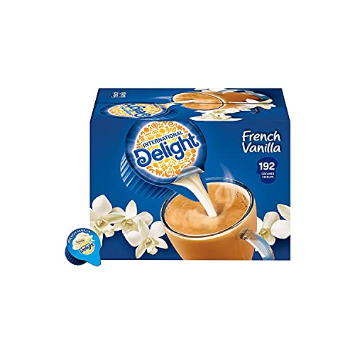 International Delight Creamer Singles French Vanilla - Single Serve Non Dairy Delicious Flavored Coffee Creamers For Home Offices Parties or Group Events - 192 Count