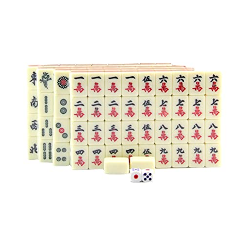 Blesiya Juego Tradicional de Mesa de Mahjong Chino para Viaje