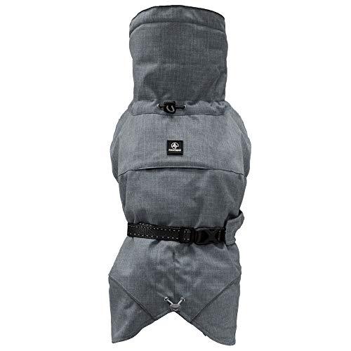 Croci Hiking Hundemantel, wasserdicht, für Hunde, gefüttert, Wintermantel, Thermofutter, Everest Grey, Größe 40 cm – 195 g