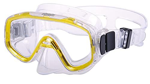 Aquazon Kinder Taucherbrille, Tauchmaske, Tauchermaske Fun, für 3-7 Jahre, gelb transparent