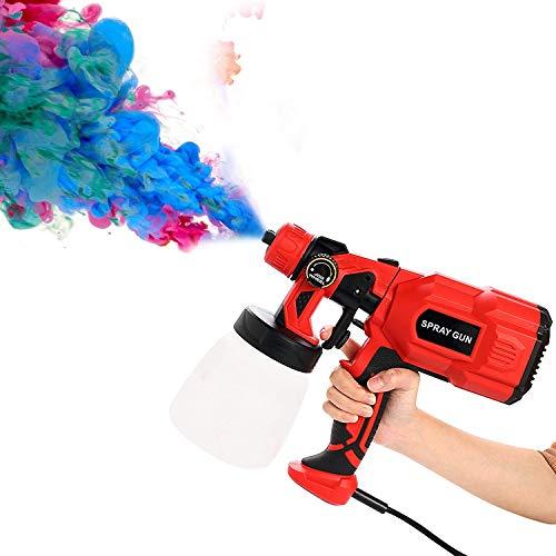 Kacsoo Pistola pulverizadora de pintura HVLP, pistola de pintura eléctrica con 3...