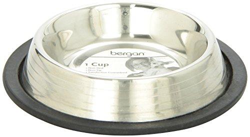 Bergan Stainless Steel Non-Skid/Non-Tip Pet Bowl